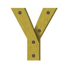 Wood Letter Y