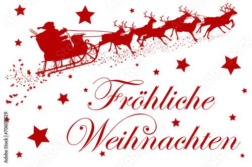 Bilder Rentiere Weihnachten.Fröhliche Weihnachten Grußkarte Rentiere Weihnachtsmann 2d Buy