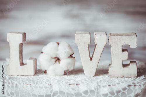 Foto-Tapete - Love wooden letters (von oksix)