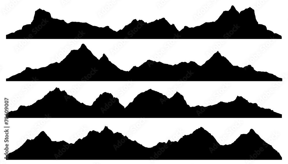 Fototapety, obrazy: mountain silhouettes
