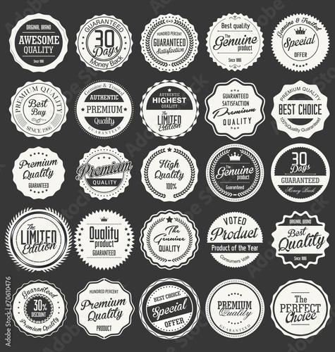 Fotografía  Premium, quality retro vintage labels collection