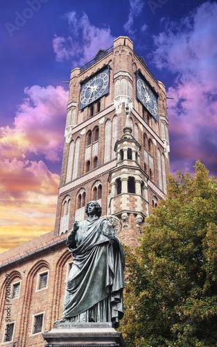 Sculpture of Nicolaus Copernicus in Torun, Poland.