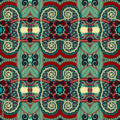 Deurstickers Marokkaanse Tegels seamless geometry vintage pattern, ethnic style ornamental backg