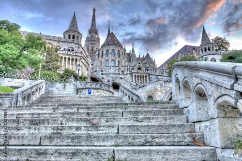 Staande foto Artistiek mon. Fisherman's Bastion, Budapest, Hungary