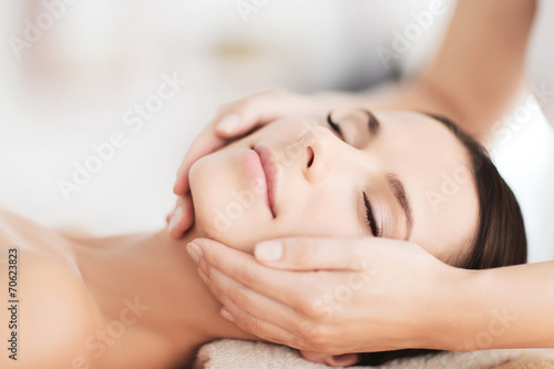 Fotografie, Obraz  beautiful woman in spa salon having facial