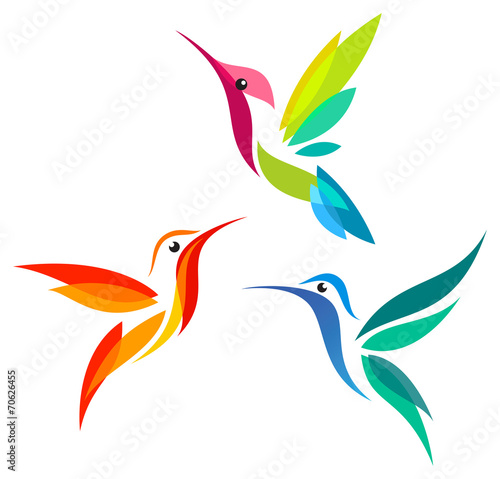 Photo  Stylized Hummingbirds