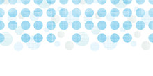 Abstract Textile Blue Polka Do...