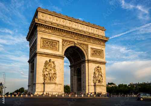 Valokuva  Arch of Triumph (Arc de Triomphe) with dramatic sky