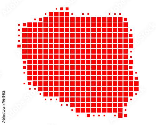 Fototapeta Karte von Polen obraz