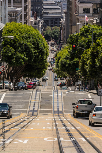 Up and down, the street of San Francisco