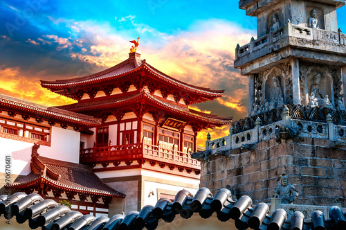 Poster Peking ancient Chinese architecture