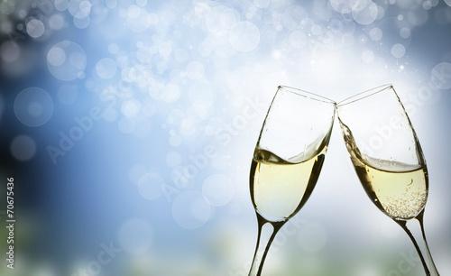 Fotografía champagne glasses