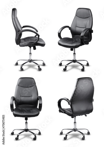Office chair set isolated
