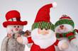 Christmas dolls,Santa Claus and two snowmen