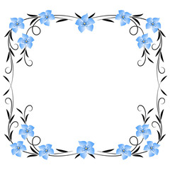 FototapetaFloral ornament frame