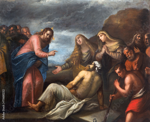 Fotografija  Padua - Paint of the Resurrection of Lazarus scene