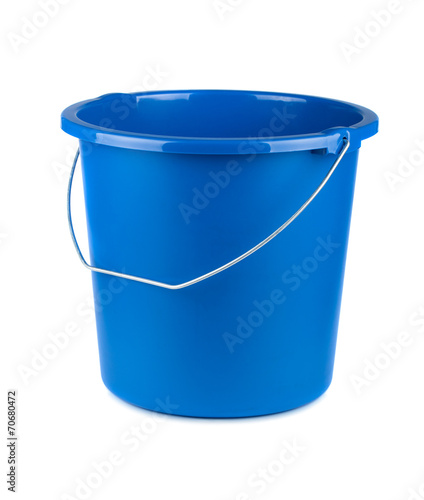 Empty blue bucket Wall mural