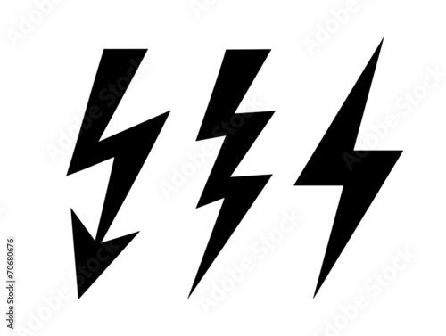 Cuadros en Lienzo Lightning icon