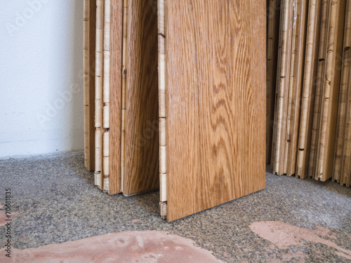 Wooden floor boards
