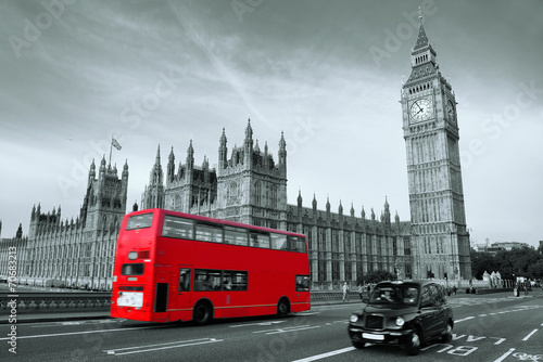 Foto op Canvas Londen rode bus Bus in London