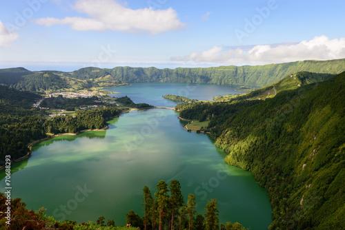 Photo  Panoramica da Lagoa das Sete Cidades