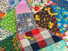 Colorful Crazy Patchwork Quilt