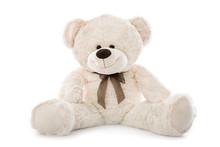 Teddy Bär Isoliert Auf Weiß