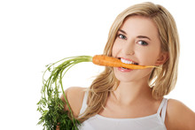 Young Woman With The Carrots