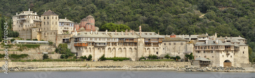 Xenofontos monastery at mount Athos greece Canvas-taulu