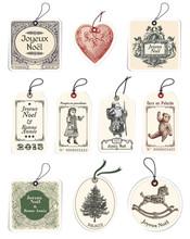 10 étiquettes De Noël