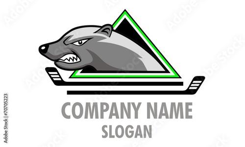 Fotografie, Tablou Honey Badger Logo