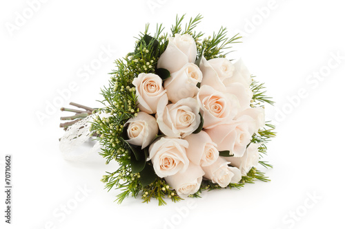 Photo white roses bouquet