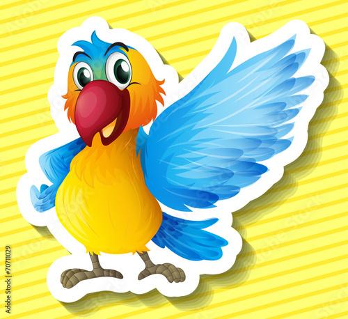 Poster Vogels, bijen Parrot