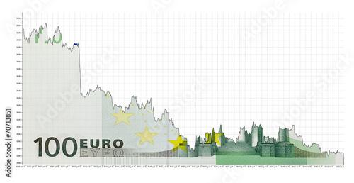 Fotografía  falling euro