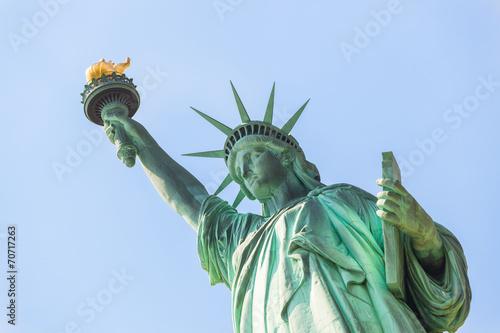 obraz lub plakat Statua Wolności na Sunny Day