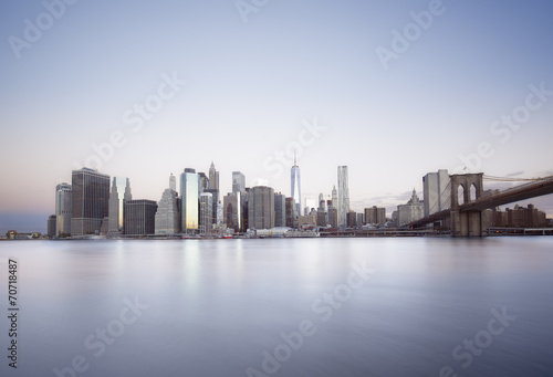 Foto op Aluminium New York New York City sunrise