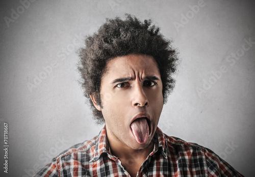 Fotografie, Tablou  Disgusted man