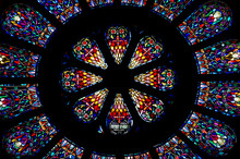 Stained Glass Rose Window