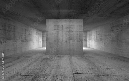 Empty room, abstract concrete interior. 3d render illustration © evannovostro