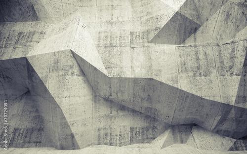 fototapeta na lodówkę 3d streszczenie stonowanych wnętrze z betonu wielokąta wzór na th