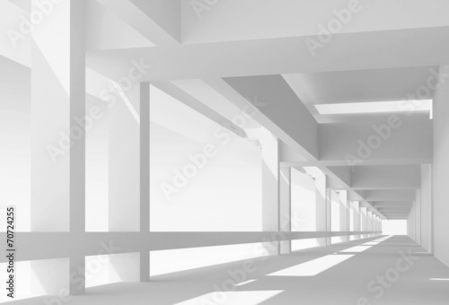 Plakaty do przedpokoju  abstract-architecture-3d-background-with-perspective-view-of-whi