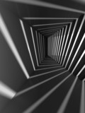 Fototapeta Perspektywa 3d - Abstract dark 3d interior background with light beams