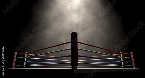 Photo  Boxing Ring Spotlit Dark