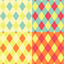 Seamless Argyle Pattern. Diamo...