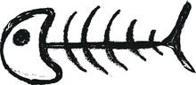 Fish Bone Doodle Charcoal