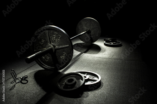 Foto op Canvas Fitness Olympic weights