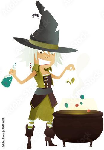 Valokuva sorcière d'halloween