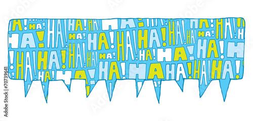 Canvas Print Speech bubble group laughter