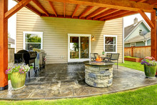 Patio Area With Tile Floor And...