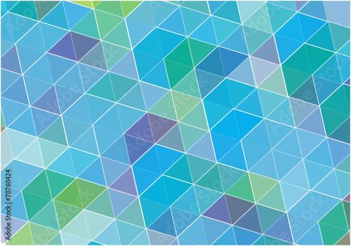 blue vector cubes background Canvas Print